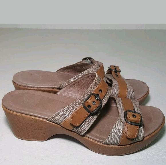2ff60595b172 Dansko Shoes - DANSKO WOMENS SOPHIE SLIDE BUCKLE SANDALS SIZE 38